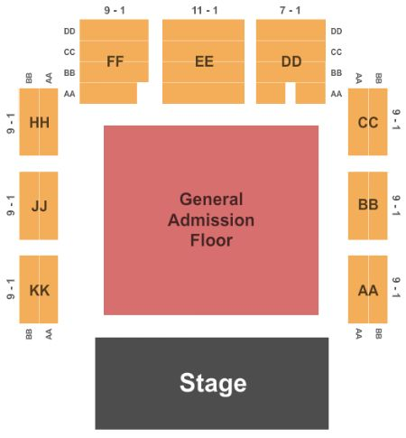 Roseland Theater Seating Chart