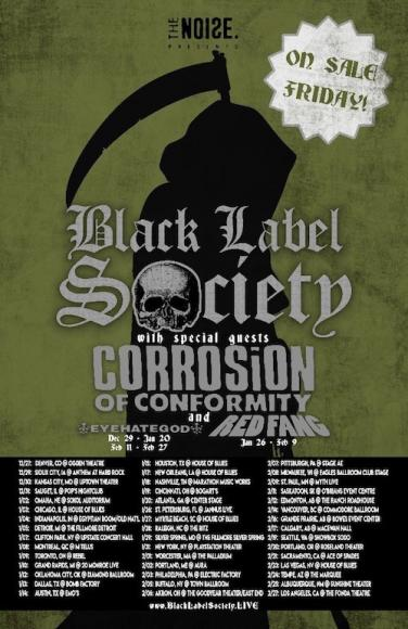 Black Label Society, Corrosion of Conformity & Eyehategod at Roseland Theater