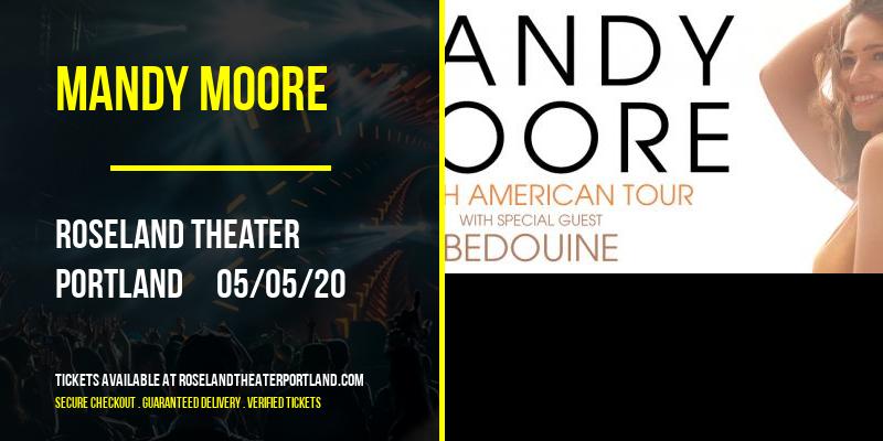Mandy Moore [POSTPONED] at Roseland Theater