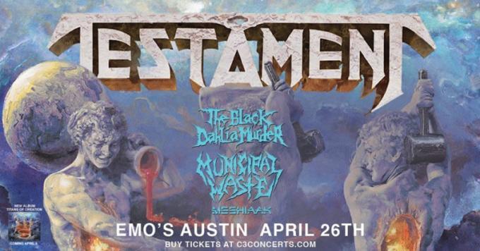 Testament, The Black Dahlia Murder, Municipal Waste & Meshiaak [CANCELLED] at Roseland Theater
