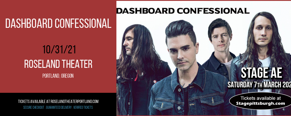 Dashboard Confessional [CANCELLED] at Roseland Theater