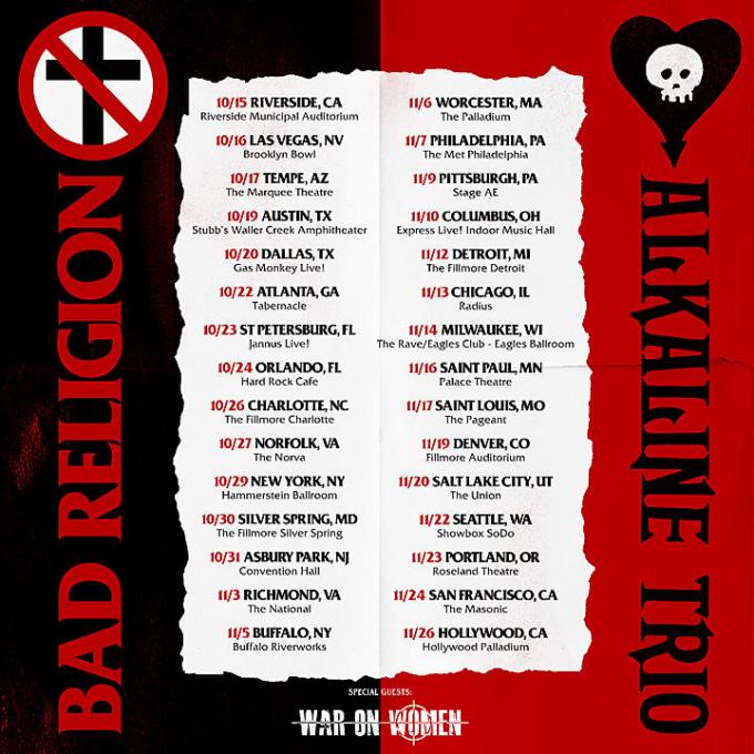 Bad Religion & Alkaline Trio at Roseland Theater